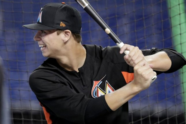 Miami Marlins rookie Connor Scott. Photo courtesy of the Miami Marlins/Twitter.