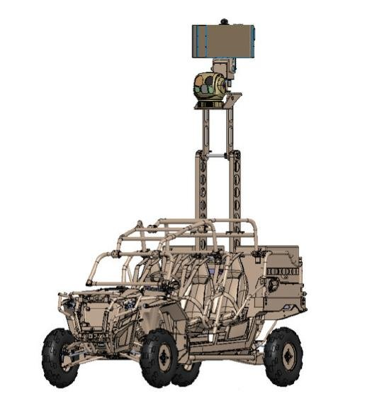 FLIR Systems' LTV-X vehicle with its Ranger R6SS ground surveillance radar. Image courtesy of FLIR Systems