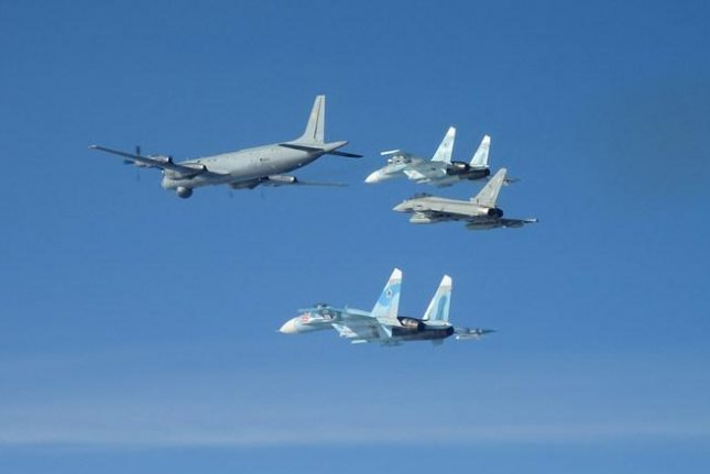 NATO allies scrambled 10 times and intercepted six groups of Russian aircraft flying near alliance airspace Monday. Photo courtesy of NATO