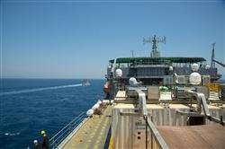 MV Cape May sails into Mediterranean for neutralization of Syria's chemical weapons. (U.S. Navy photo/Mass Communication Specialist Seaman Desmond Parks)
