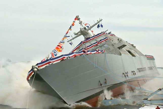 The future USS Sioux City, a Freedom variant Littoral Combat Ship, is launched Saturday.