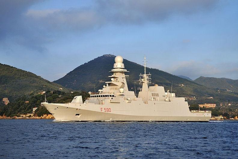 A FREMM frigate of the Italian Navy. Photo by Fabius1975/CC