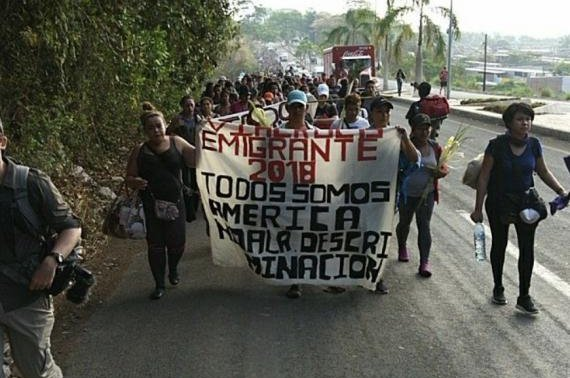 A group of about 700 people, mostly from Honduras, left the southern Mexican town of Tapachula on March 25 and grew to about 1,200 people. Photo courtesy Pueblos Sin Fronteras