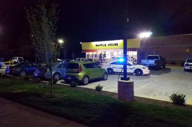 Nashville police respond to a fatal shooting at a Waffle House early Sunday morning. Photo courtesy of Nashville Police/Twitter