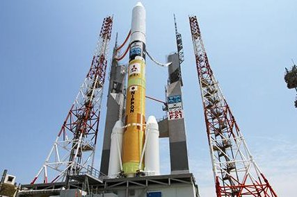 A Japanese H-2A rocket like this one is prepared to launch the United Arab Emirates Mars orbiter Hope in Japan on Sunday evening. Photo courtesy of Japan Aerospace Exploration Agency