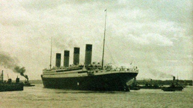 Scientists found the sunken Titanic off Newfoundland in the North Atlantic on Sept. 1, 1985. This postcard-size photo of the British luxury liner leaving the port in Southhampton, England, April 10, 1912, on its ill-fated voyage was taken by chief docks engineer Henry William Clarke. In 1968, the photo was donated to the Vancouver (British Columbia) Maritime Museum by Clarke's daughter Mrs. R.H. Hooper of Richmond, B.C. Photo by Henry W. Clarke/UPI File