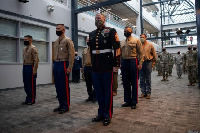 U.S. Space Command at Paterson Air Force Base, Colo., on Tuesday hosted a 245th birthday celebration for the U.S. Marine Corps,which has finalized the creation of Marine Forces Space Command. Photo courtesy of USSPACECOM