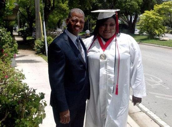 Rachel Jeantel, right, graduates from high school. (Personal photo)