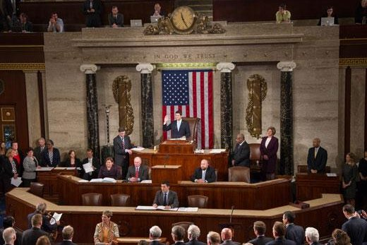The U.S. House of Representatives in session. Photo courtesy of the U.S. Congress