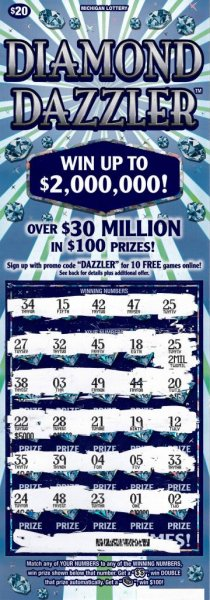 A Michigan man said he won $2 million thanks to his strategy of only buying odd-numbered scratch-off tickets. Photo courtesy of the Michigan Lottery