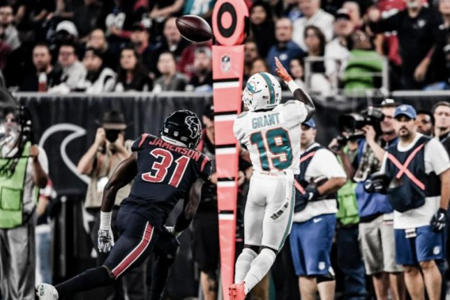 Miami Dolphins wide receiver Jakeem Grant had two receiving scores and two touchdowns on special teams during his 2018 campaign. Photo courtesy of the Miami Dolphins