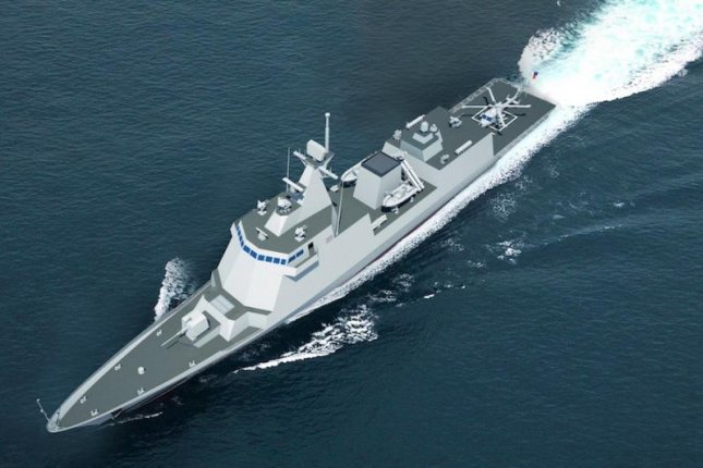A computer image of a frigate Hyundai Heavy Industries will build for the Philippines. Image courtesy HHI