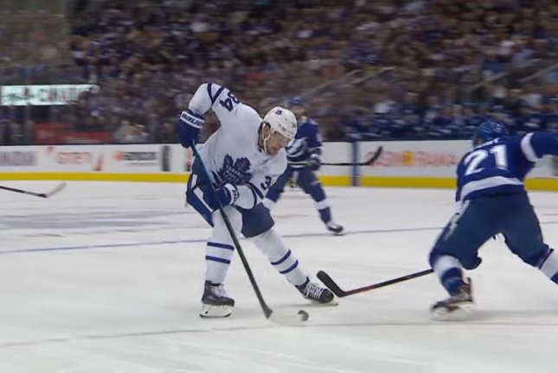 Toronto Maple Leafs forward Auston Matthews scored his 31st goal of the season against the Tampa Bay Lightning on Monday night. Photo courtesy of NHL/YouTube