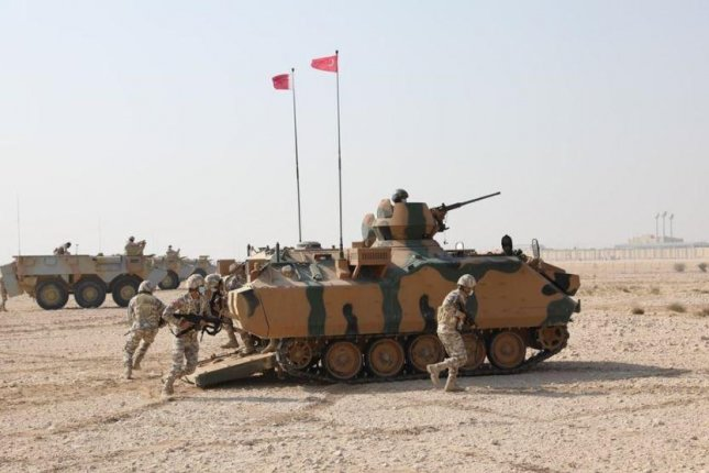 Turkish armed forces, pictured training a mechanized infantry team from Qatar, will lead NATO's Very High Readiness Joint Task Force in 2021, the alliance announced on Wednesday. Photo courtesy of Turkish Defense Ministry