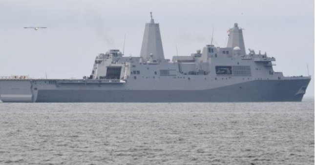 The amphibious transport dock USS John P. Murtha completed an availability that saw installation of two new communications networks and a slew of repairs, the Navy said this week. Photo by U.S. Navy