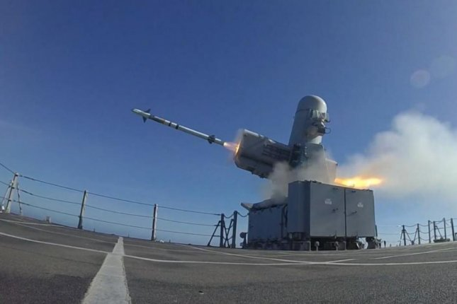 A Rolling Airframe missile was successfully fired from the LCS USS Charleston last week in a live-fire exercise, the U.S. Navy announced.  Photo courtesy of U.S. Navy