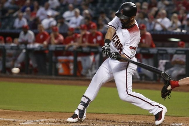 Arizona Diamondbacks' Daniel Descalso chipped in with three RBIs as the Diamondbacks extended the best start in franchise history with a 6-1 victory over the Philadelphia Phillies at Chase Field on Monday. Photo courtesy of Arizona Diamondbacks/Twitter