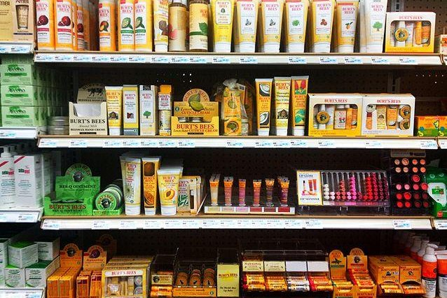 Burt's Bees products lined up at a local store. (CC/WestportWiki)