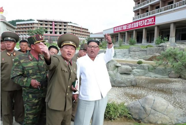 Kim Jong Un inspecting Yangdok County Hot Springs Resort in August. File Photo by KCNA