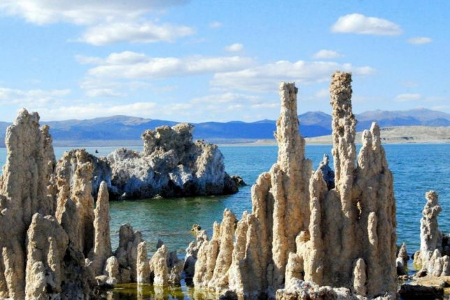 Using a new chemical test, scientists successfully detected 17 different amino acids in samples collected from California's Mono Lake. Photo by NASA/JPL/Mono County Tourism
