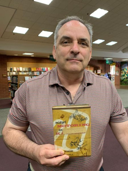 A man who checked out a book from a California library returned it in person -- 45 years later. Photo by Sunnyvale Public Library/Facebook