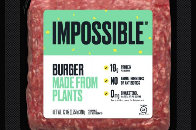 The Impossible Foods company says its burger tastes just like a beef burger, but without the beef. Photo courtesy of Impossible Foods