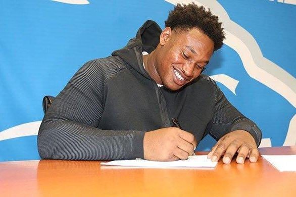 The Detroit Lions traded defensive tackle Akeem Spence (pictured) to the Miami Dolphins for an undisclosed pick in next year's NFL Draft, the Lions announced Thursday. Photo courtesy of Detroit Lions/Twitter