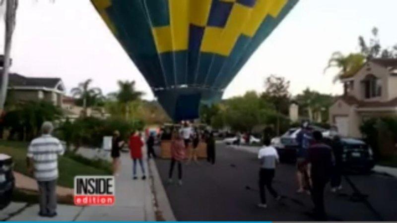 California neighbors come to the rescue of crashing hot air balloon
