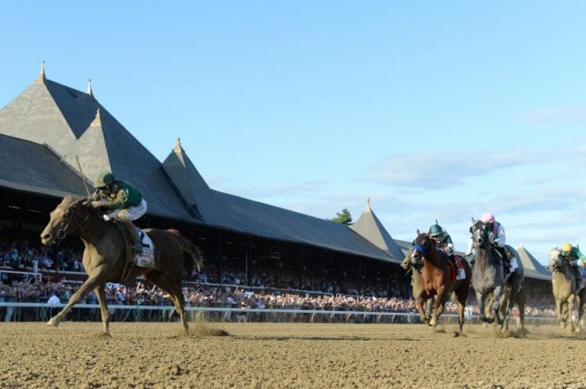 Code of Honor romps to victory in the Grade I Travers at Saratoga, the Midsummer Derby. Photo courtesy of New York Racing Association