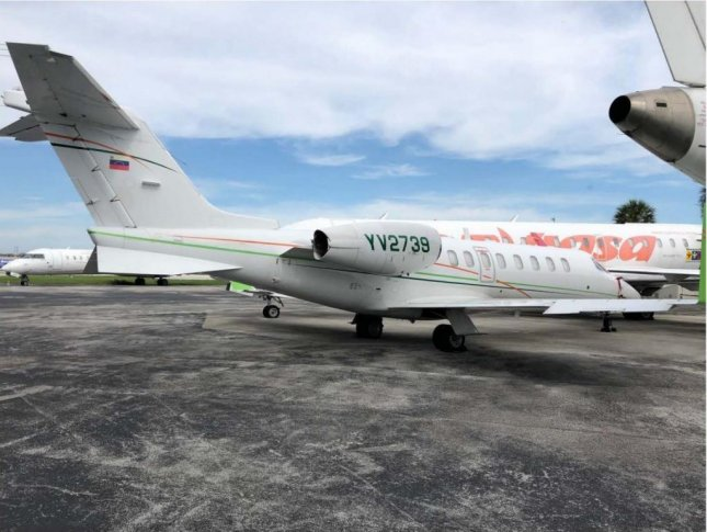 YV2739 Bombardier Learjet 45 is one of 15 aircraft owned by Venezuelan state-run oil and gas company Petroleos de Venezuela that the Trump administration blacklisted on Tuesday. Photo courtesy of U.S. Treasury Department/Website
