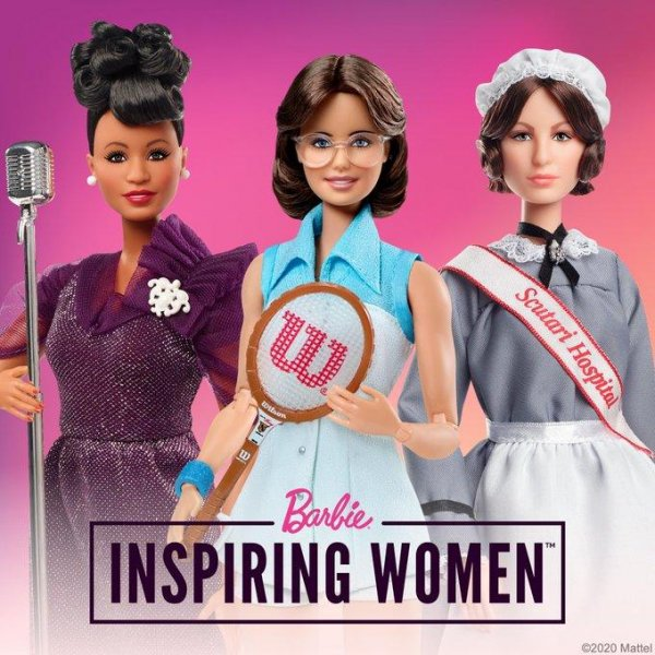 Barbie added Ella Fitzgerald, Billie Jean King and Florence Nightingale to its Inspiring Women series on Thursday. Photo courtesy Barbie