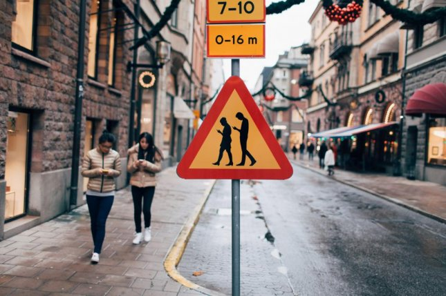 Jacob Sempler realized that he was addicted to his smartphone after nearly being hit by a car while walking down the streets of Stockholm. Now he is looking to spread his message and encourage people to keep their heads up and out of their phones. Photo by Jacob Sempler