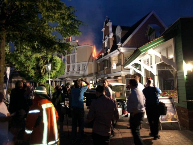 Seven injured in massive blaze at German theme park