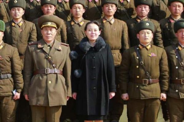 Kim Yo Jong, the sister of North Korean leader Kim Jong Un, has been blacklisted by the United States. File Photo by KCNA