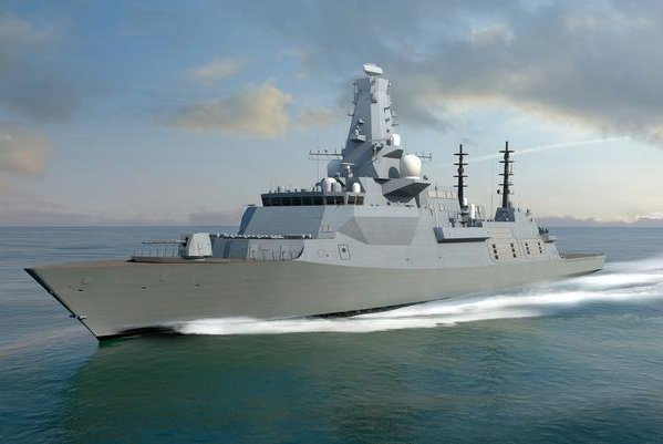 BAE Systems held a steel cut ceremony to mark the start of construction of Britain's third Type 26 vessel, the HMS Belfast. Photo courtesy of BAE Systems