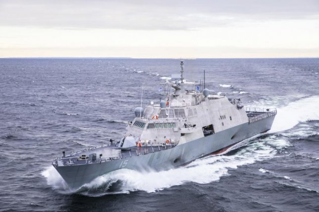 The future littoral combat ship USS Billings conducts acceptance trials on Lake Michigan in December. Photo courtesy Lockheed Martin/U.S. Navy