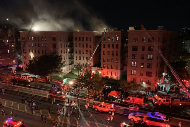 The blaze in the Bronx broke out around 8 p.m. Friday. Photo courtesy of the New York City Fire Department