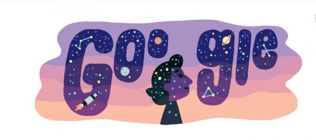 Google is paying homage to astrophysicist Dilhan Eryurt with a new Doodle. Image courtesy of Google