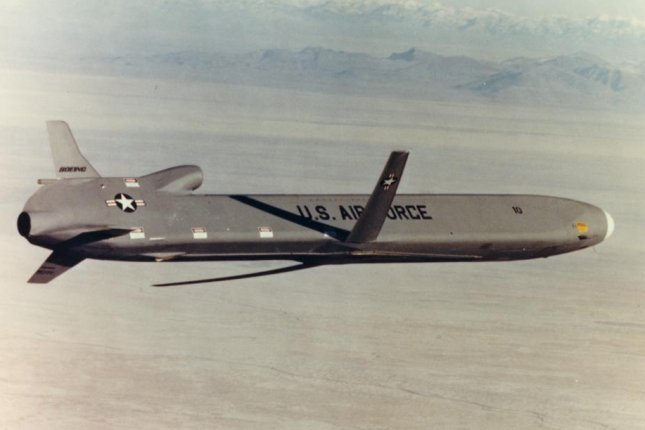 The new LRSO missile is set to the replace the AGM-86B ALCM, pictured over the White Sands Missile Range in New Mexico. U.S. Air Force photo