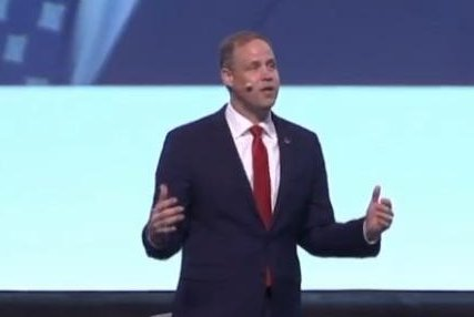 NASA Administrator Jim Bridenstine speaks Monday at the International Astronautical Congress in Washington D.C. Photo courtesy of NASA