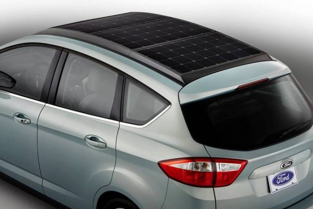 Ford C-MAX Energi Solar Concept show at the 2014 Consumer Electronics Show in Las Vegas (Photo Courtesy of Ford Motor Co.)