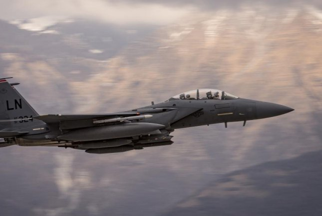 Boeing will continue long-term sustainment operations for South Korea's fleet of F-15 fighter jets for at least five more years. Pictured, an F-15 pilot performs flight training in Italy. U.S. Air Force photo by Senior Airman Cory W. Bush