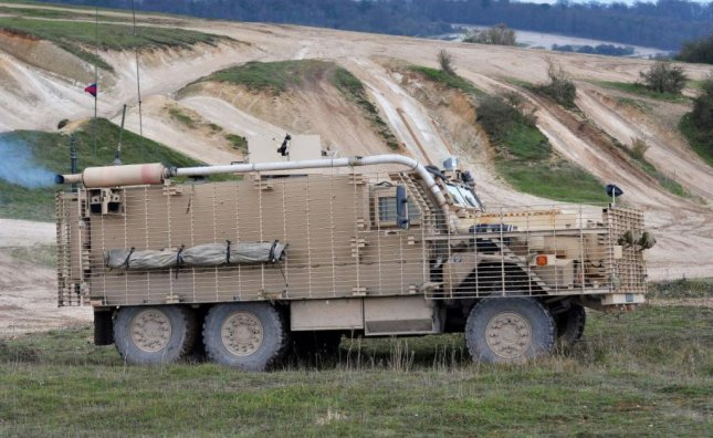 Heavily armored vehicles like the Mastiff, pictured, were useful in the Afghanistan war but offering no current advantage and are the next elements on Britain's list of equipment to be sold, British defense officials have said. Photo courtesy of British Ministry of Defense