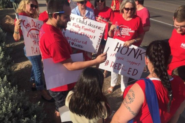 Arizona teachers will begin a statewide strike on April 26, in an effort to get more funding in the classroom. Photo courtesy Arizona Educators United/Twitter