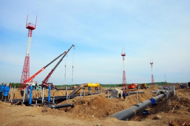 Most of the construction work for a pipeline stretching to China has been completed, Russian energy company Gazprom said. Photo courtesy of Gazprom
