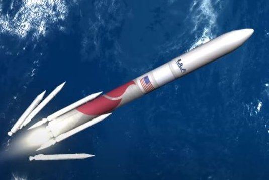 United Launch Alliance plans to launch its first, new Vulcan rocket -- as shown in an artist rendering here -- in April 2021. Image courtesy of United Launch Alliance