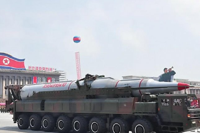 Pyongyang's military parade, marking the 60th anniversary of the Armistice Agreement on July 27, 2013. North Korea is expected to display weapons it featured in 2012 and 2013, according to a Seoul military official. File photo by Yonhap