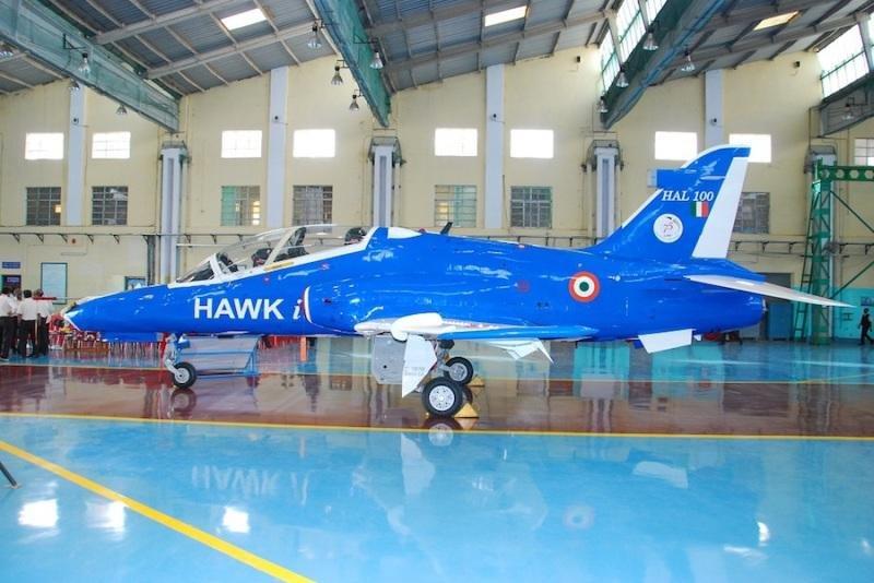 An Indian upgraded Hawk MK132 jet trainer. Photo courtesy Hindustan Aeronautics Limited