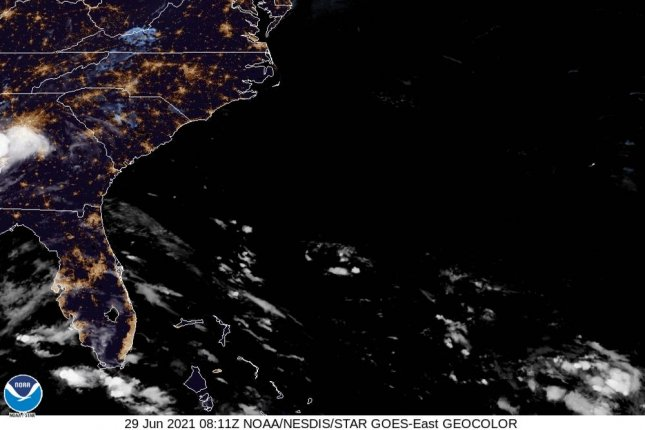 Tropical Storm Danny weakens to a depression after making landfall