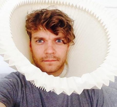Pilou Asbaek takes a selfie in what looks like a lampshade. The actor is said to be the newest on 'Game of Thrones.' Photo by PilouAsbaek/Twitter